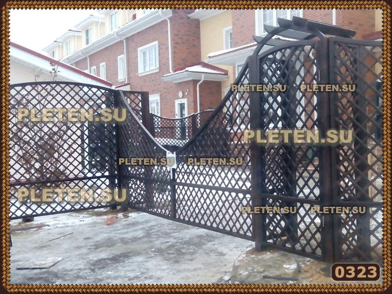 ворота из шпалер