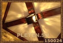 балки украшенные кованым железом