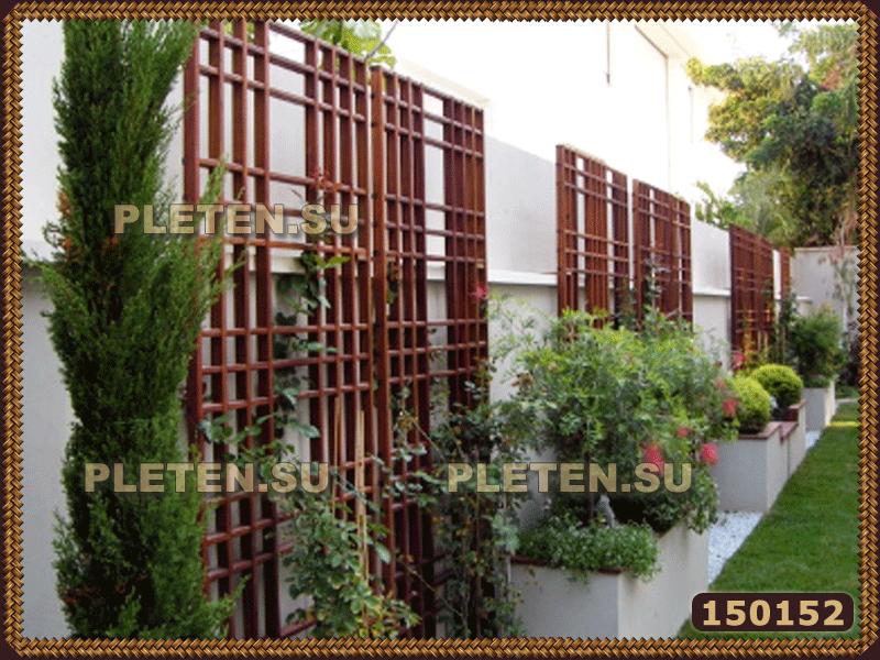 Деревянные декоративные решетки для дачи сада беседки