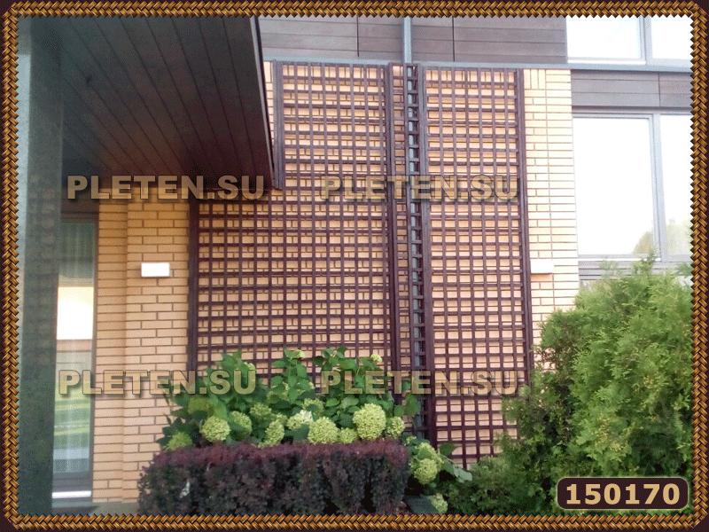 шпалерные панели из деревянных решеток