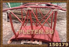 мостик с перилами из веток и коряг