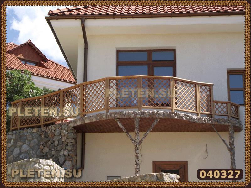 балконные перила из шпалеры