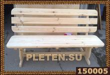 Оригинальная деревянная скамейка